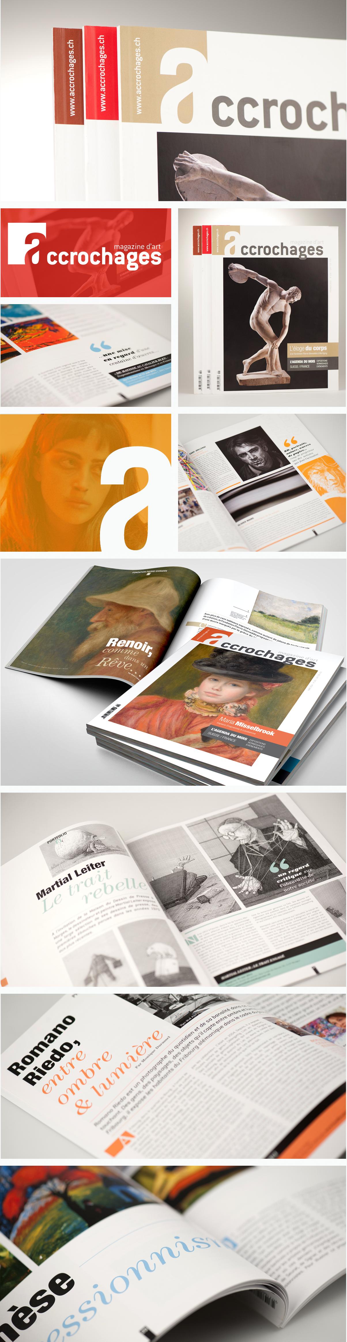 Agence Communication magazine Accrochages logotype