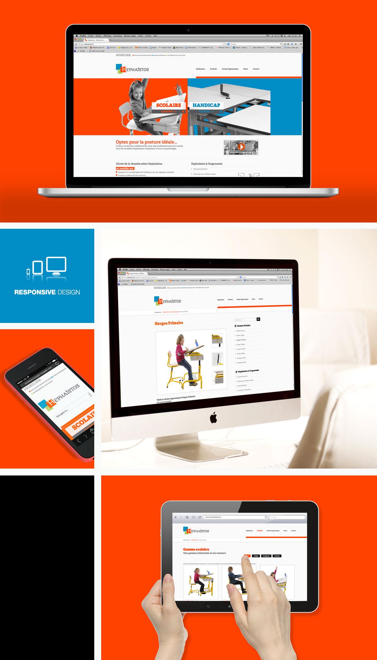 Creation de site internet hephaïstos - Aveyron