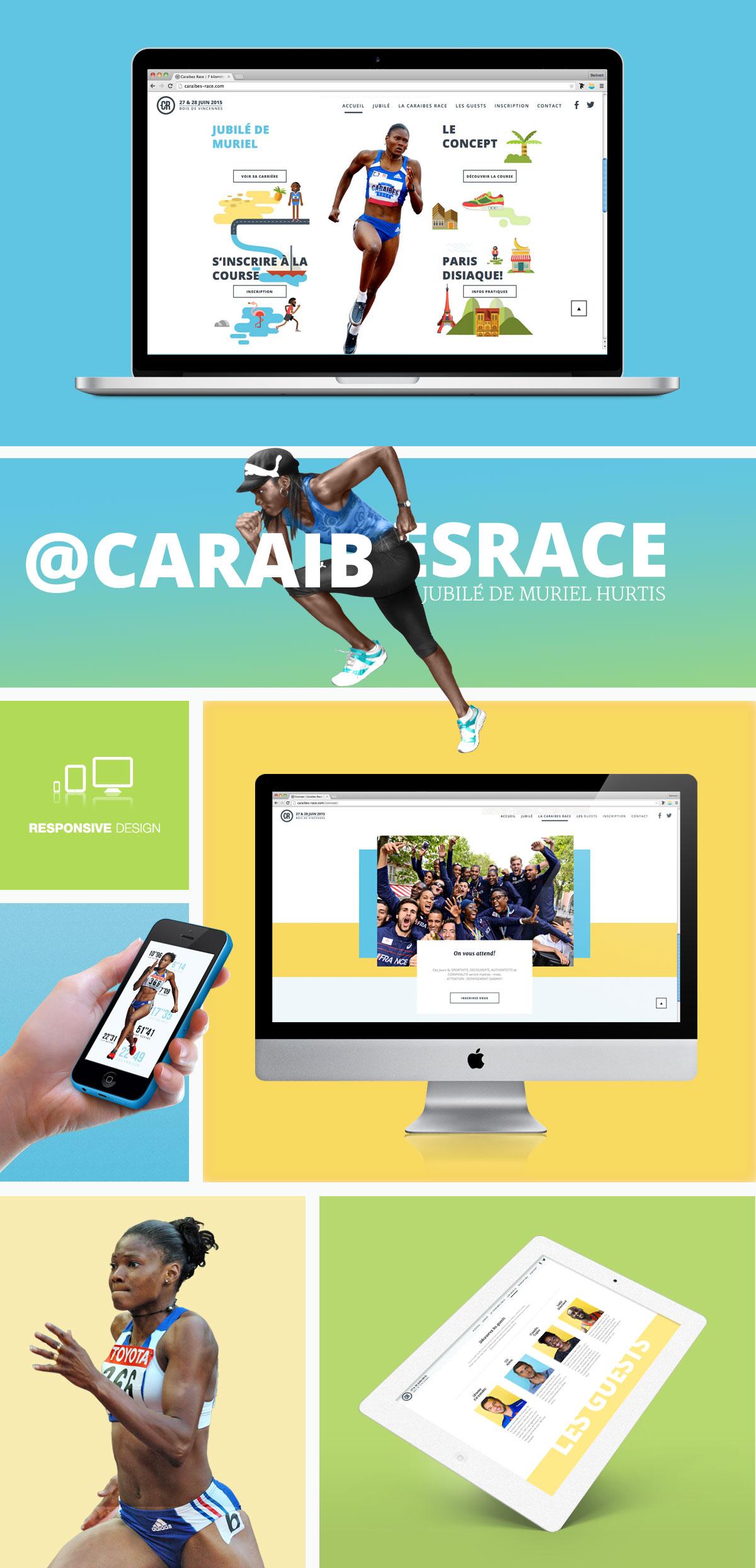 Creation site internet Caraïbes race